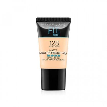 Maybelline Fit Me Powder Foundation Matte +Poreless 18Ml - 128 Warm Nude
